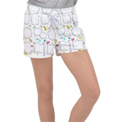 Set Chalk Out Chitchat Scribble Women s Velour Lounge Shorts