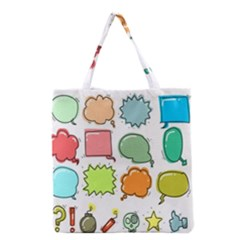 Set Collection Balloon Image Grocery Tote Bag