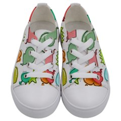 Set Collection Balloon Image Kids  Low Top Canvas Sneakers