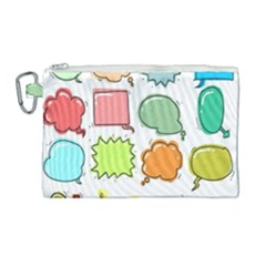 Set Collection Balloon Image Canvas Cosmetic Bag (large)