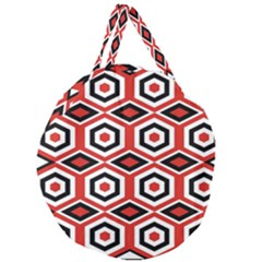 Motif Batik Design Decorative Giant Round Zipper Tote