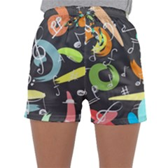 Repetition Seamless Child Sketch Sleepwear Shorts
