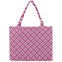 Woven2 White Marble & Pink Denim Mini Tote Bag by trendistuff