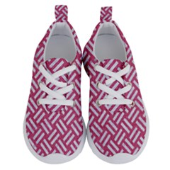 Woven2 White Marble & Pink Denim Running Shoes by trendistuff