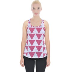 Triangle2 White Marble & Pink Denim Piece Up Tank Top