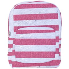 Stripes2white Marble & Pink Denim Full Print Backpack by trendistuff