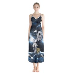 We Found Laika Button Up Chiffon Maxi Dress