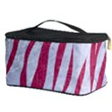 SKIN3 WHITE MARBLE & PINK DENIM (R) Cosmetic Storage Case View3