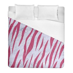 Skin3 White Marble & Pink Denim (r) Duvet Cover (full/ Double Size)