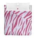 SKIN3 WHITE MARBLE & PINK DENIM (R) Duvet Cover Double Side (Full/ Double Size) View1