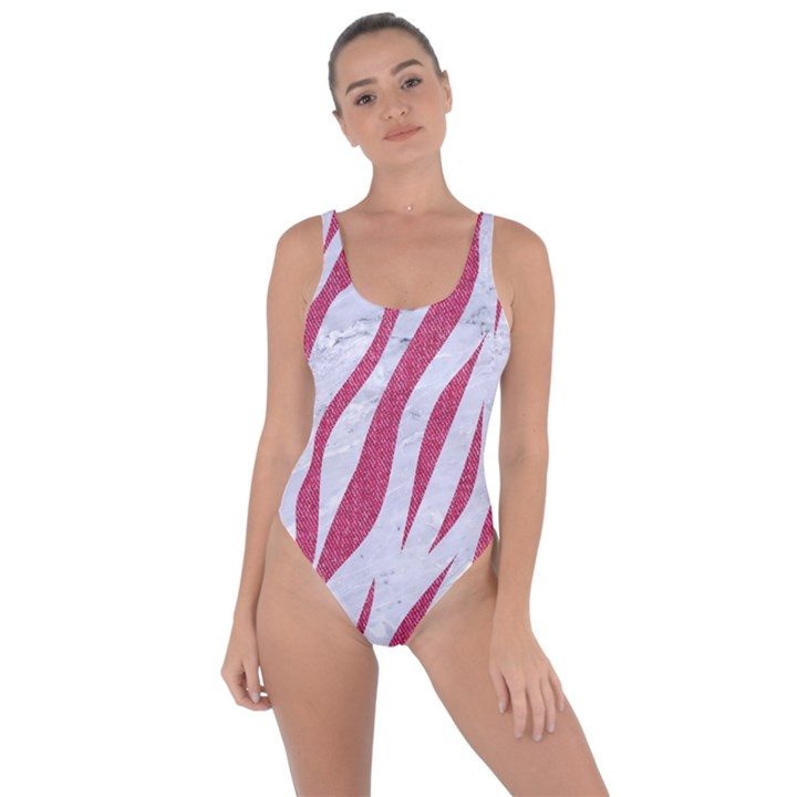 SKIN3 WHITE MARBLE & PINK DENIM (R) Bring Sexy Back Swimsuit