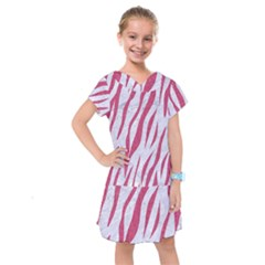 Skin3 White Marble & Pink Denim (r) Kids  Drop Waist Dress