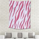 SKIN3 WHITE MARBLE & PINK DENIM (R) Medium Tapestry View2