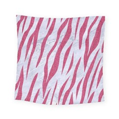 SKIN3 WHITE MARBLE & PINK DENIM (R) Square Tapestry (Small)