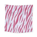 SKIN3 WHITE MARBLE & PINK DENIM (R) Square Tapestry (Small) View1