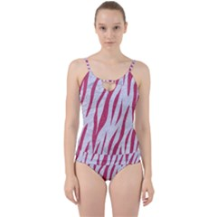 SKIN3 WHITE MARBLE & PINK DENIM (R) Cut Out Top Tankini Set