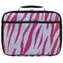 SKIN3 WHITE MARBLE & PINK DENIM (R) Full Print Lunch Bag View1