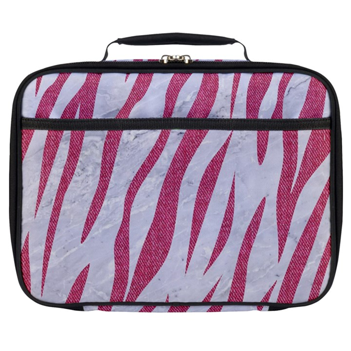SKIN3 WHITE MARBLE & PINK DENIM (R) Full Print Lunch Bag