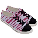 SKIN3 WHITE MARBLE & PINK DENIM (R) Men s Low Top Canvas Sneakers View3
