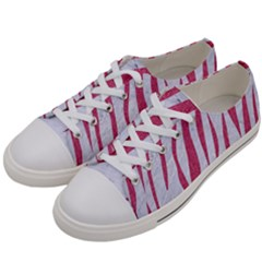 SKIN3 WHITE MARBLE & PINK DENIM (R) Women s Low Top Canvas Sneakers