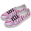 SKIN3 WHITE MARBLE & PINK DENIM (R) Women s Classic Low Top Sneakers View2
