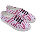SKIN3 WHITE MARBLE & PINK DENIM (R) Women s Classic Low Top Sneakers View3
