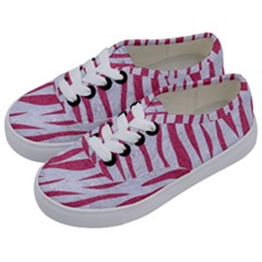 SKIN3 WHITE MARBLE & PINK DENIM (R) Kids  Classic Low Top Sneakers