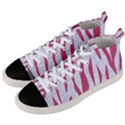 SKIN3 WHITE MARBLE & PINK DENIM (R) Men s Mid-Top Canvas Sneakers View2