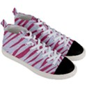 SKIN3 WHITE MARBLE & PINK DENIM (R) Men s Mid-Top Canvas Sneakers View3