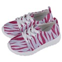 SKIN3 WHITE MARBLE & PINK DENIM (R) Kids  Lightweight Sports Shoes View2