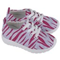 SKIN3 WHITE MARBLE & PINK DENIM (R) Kids  Lightweight Sports Shoes View3
