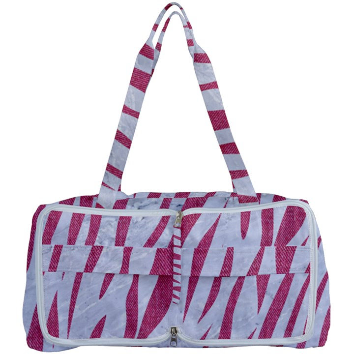 SKIN3 WHITE MARBLE & PINK DENIM (R) Multi Function Bag