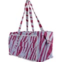SKIN3 WHITE MARBLE & PINK DENIM (R) Multi Function Bag	 View3