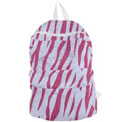 SKIN3 WHITE MARBLE & PINK DENIM (R) Foldable Lightweight Backpack
