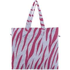 Skin3 White Marble & Pink Denim (r) Canvas Travel Bag by trendistuff