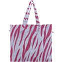 SKIN3 WHITE MARBLE & PINK DENIM (R) Canvas Travel Bag View1