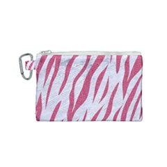 Skin3 White Marble & Pink Denim (r) Canvas Cosmetic Bag (small)