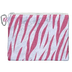 SKIN3 WHITE MARBLE & PINK DENIM (R) Canvas Cosmetic Bag (XXL)