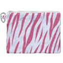 SKIN3 WHITE MARBLE & PINK DENIM (R) Canvas Cosmetic Bag (XXL) View1