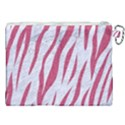 SKIN3 WHITE MARBLE & PINK DENIM (R) Canvas Cosmetic Bag (XXL) View2