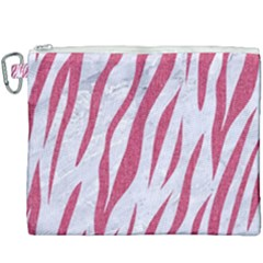 SKIN3 WHITE MARBLE & PINK DENIM (R) Canvas Cosmetic Bag (XXXL)