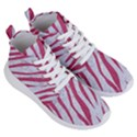 SKIN3 WHITE MARBLE & PINK DENIM (R) Women s Lightweight High Top Sneakers View3