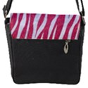 SKIN3 WHITE MARBLE & PINK DENIM Flap Messenger Bag (S) View1
