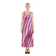SKIN3 WHITE MARBLE & PINK DENIM Sleeveless Maxi Dress