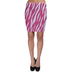 SKIN3 WHITE MARBLE & PINK DENIM Bodycon Skirt