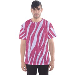 SKIN3 WHITE MARBLE & PINK DENIM Men s Sports Mesh Tee