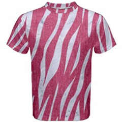SKIN3 WHITE MARBLE & PINK DENIM Men s Cotton Tee