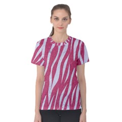 SKIN3 WHITE MARBLE & PINK DENIM Women s Cotton Tee