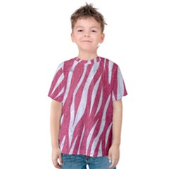 SKIN3 WHITE MARBLE & PINK DENIM Kids  Cotton Tee