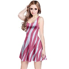 SKIN3 WHITE MARBLE & PINK DENIM Reversible Sleeveless Dress